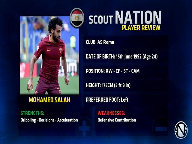 Salah toả sáng trong màu áo AS Roma