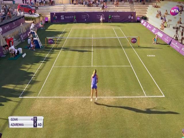 Victoria Azarenka 6-3, 4-6, 7-6 (7) Risa Ozaki