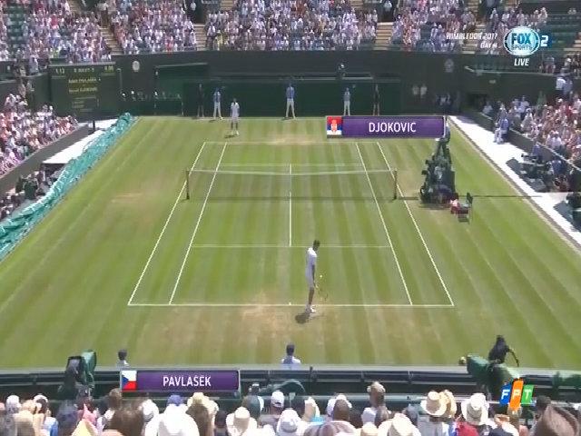 Adam Pavlasek 0-3 Novak Djokovic