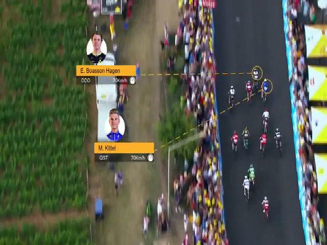 Kittel cán đích với 0,0003 giây nhanh hơn Hagen ở chặng 7 Tour de France 2017