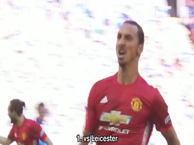 24 bàn thắng của Zlatan Ibrahimovic ở mùa giải 2016/17