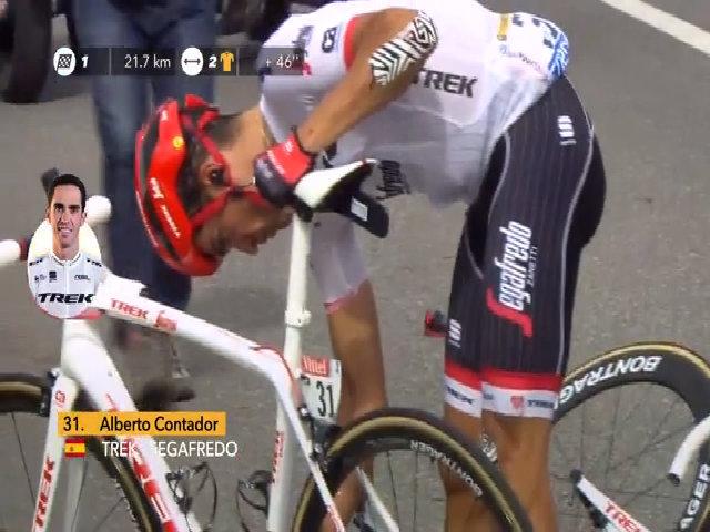 Tai nạn của Contador ở chặng 12 Tour de France 2017