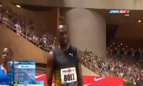 Usain Bolt về nhất 100 mét Diamond League