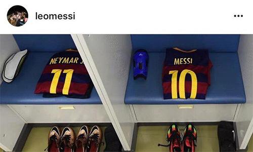 Messi từ biệt Neymar trên Instagram