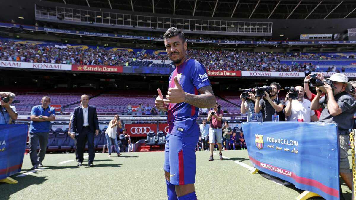 Paulinho ra mắt cùng Barca