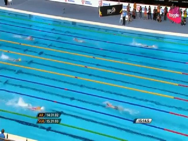 Huy Hoàng giành HC vàng 1500m
