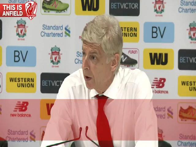 Thảm bại tại Anfield, Wenger chỉ rời họp báo chỉ sau 130 giây