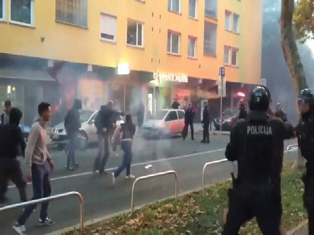 Hooligan Nga xung đột với cảnh sát Slovenia