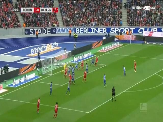 Hertha Berlin 2-2 Bayern Munich