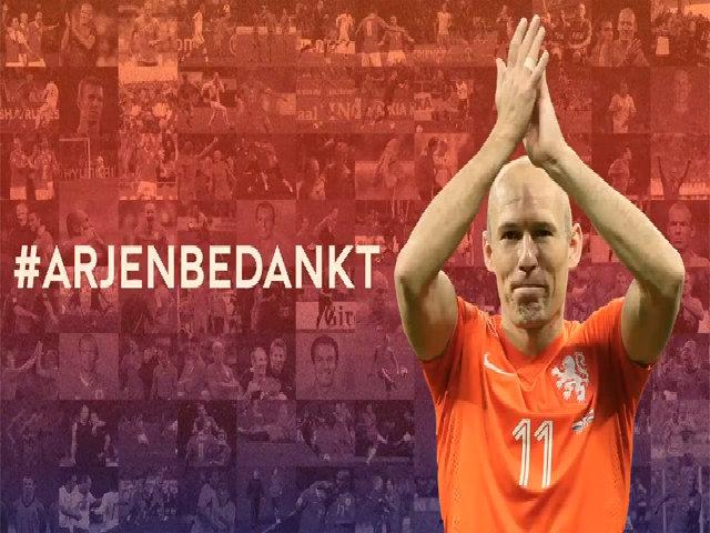 Hà Lan làm video tri ân trong ngày Robben chia tay ĐTQG