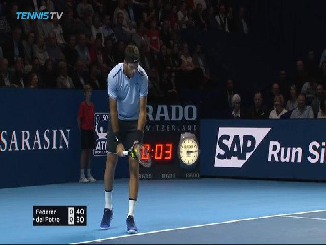 Roger Federer 2-1 Juan Martin Del Potro
