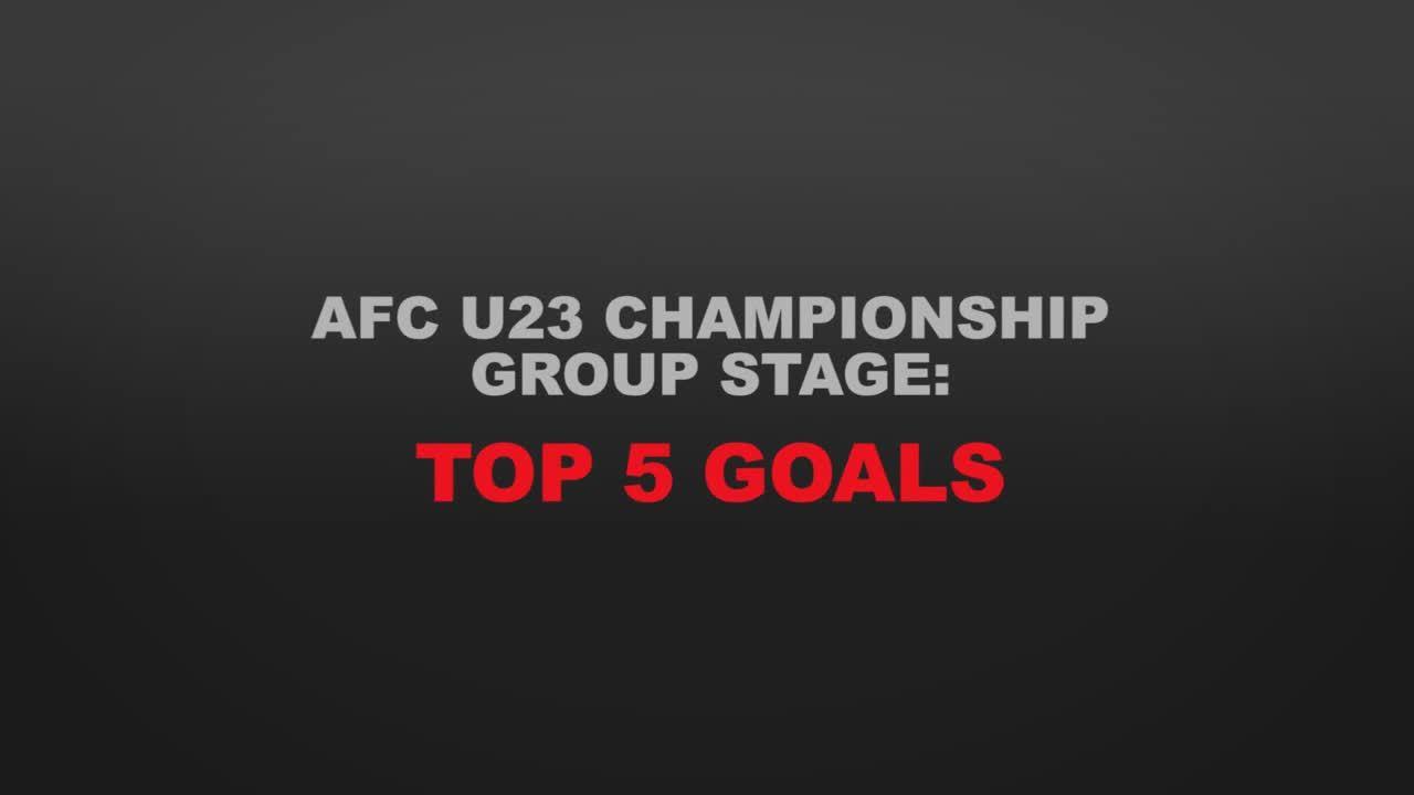 Top 5 bàn thắng vòng bảng giải U32 châu Á