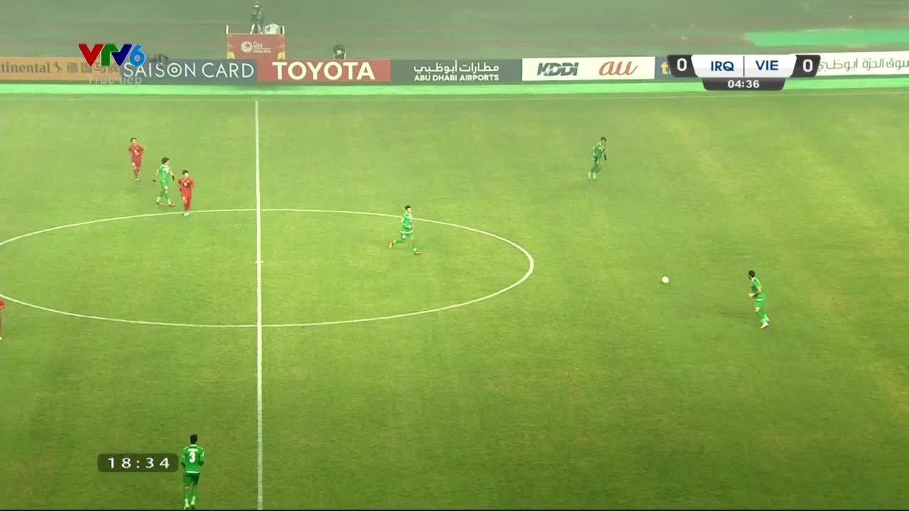 Những tình huống gây tranh cãi trong trận U23 VN - Iraq