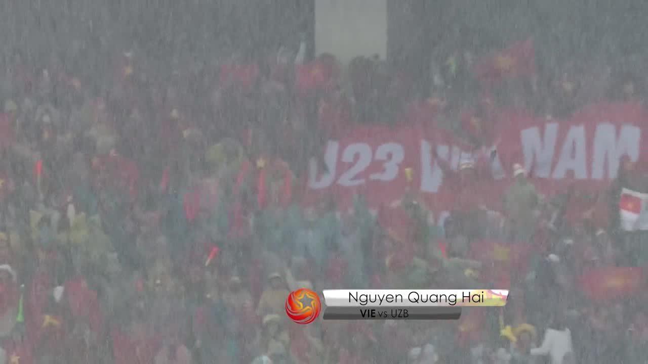 Quang Hải dẫn đầu danh sách bình bọn bàn thắng đẹp