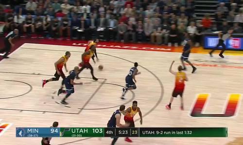 Jazz đánh bại Timberwolves trong trận đấu có tới ba người bị đuổi
