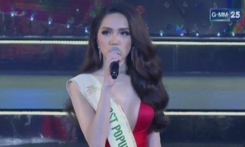 Hương Giangvào top 3 ứng xử Hoa hậu Chuyển giới Quốc tế 2018
