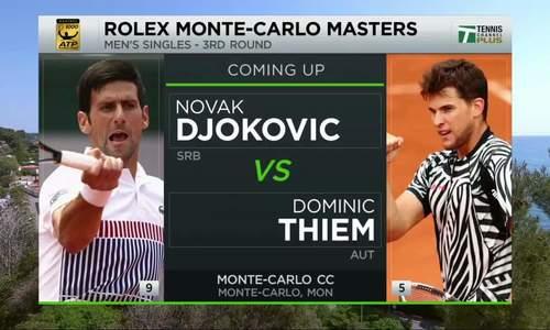 Novak Djokovic 1-3 Dominic Thiem