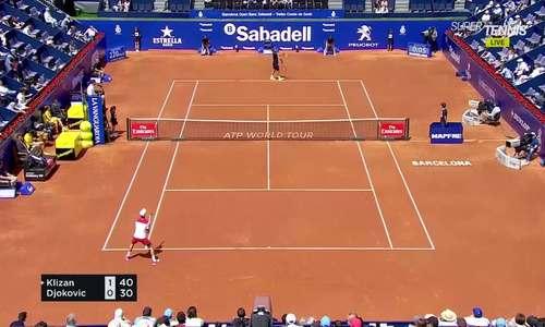 Martin Klizan 2-1 Novak Djokovic