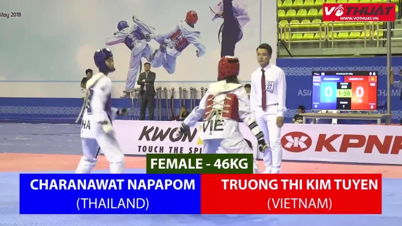 Kim Tuyến giành HC vàng Taekwondo châu Á