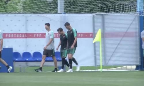 Ronaldo và đồng đội luyện tập chuẩn bị cho trận gặp Morocco