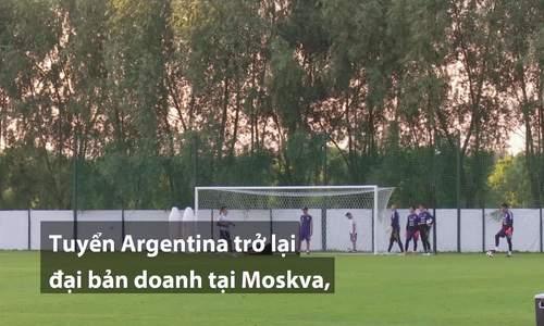 Tuyển Argentina trở lại tập luyện chuẩn bị cho trận đấu thứ hai