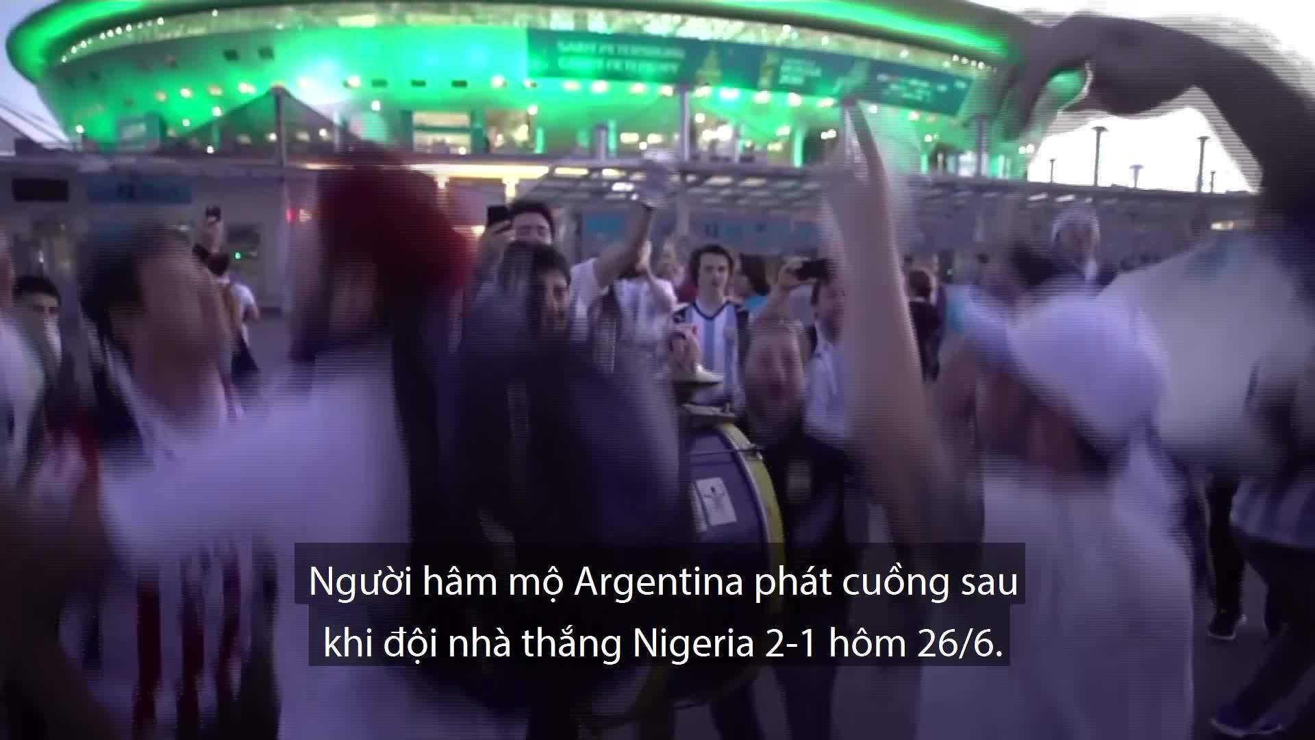 Cảm xúc của người hôm mộ sau trậnNigeria và Argentina