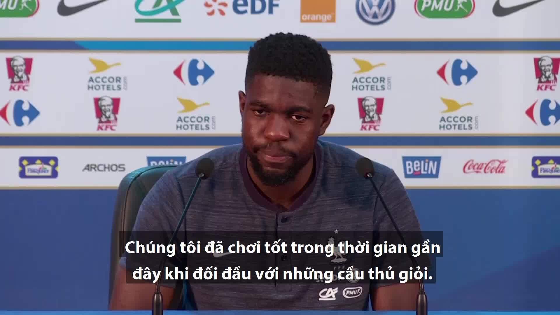 Umtiti và Pogba tự tin Pháp vô địch World Cup 2018