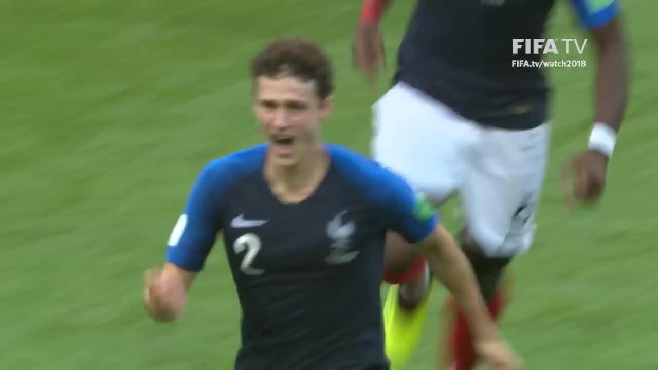Bàn thắng của hậu vệ Pháp được bầu đẹp nhất World Cup 2018