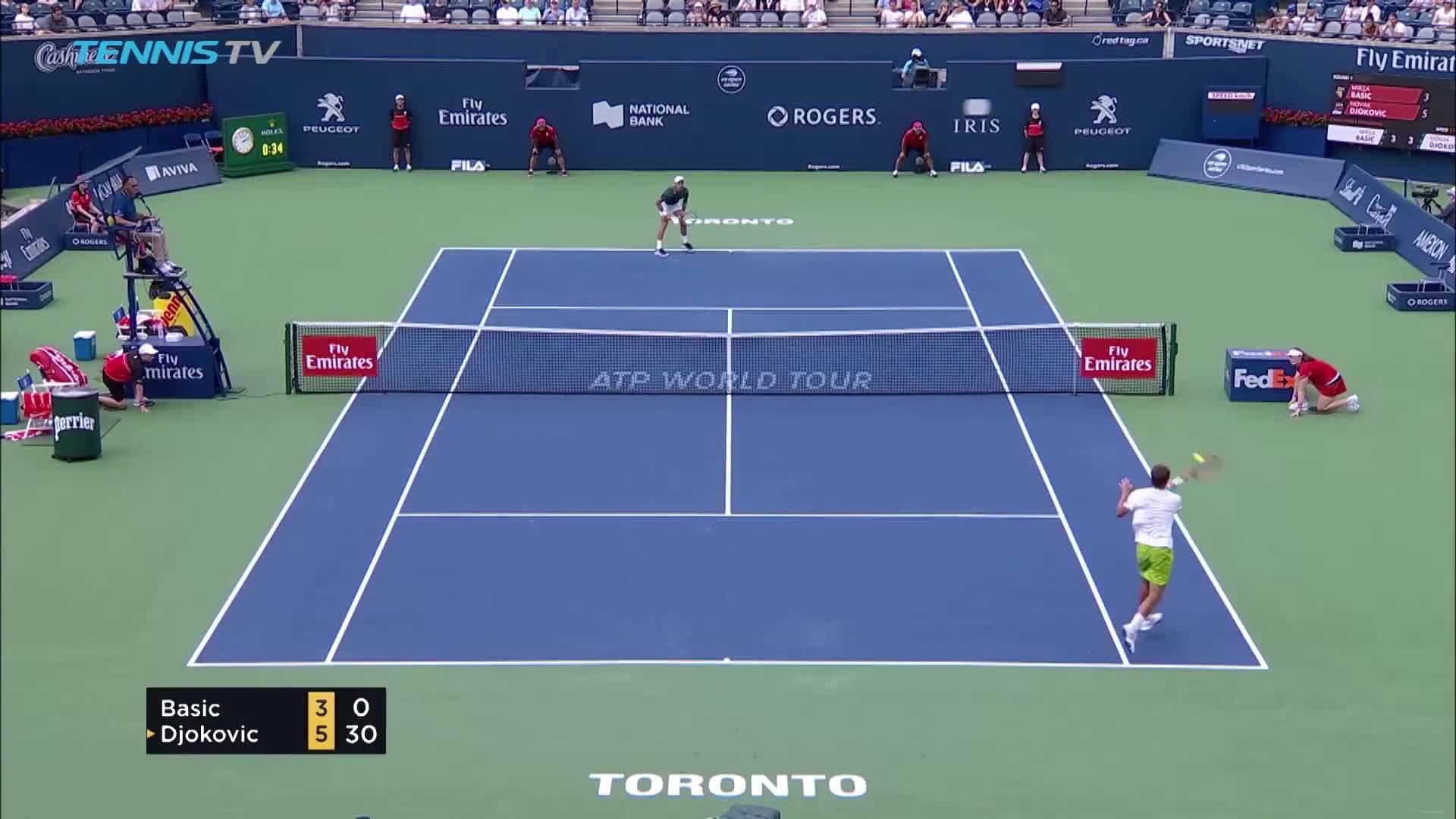 Mirza Basic 0-2 Novak Djokovic