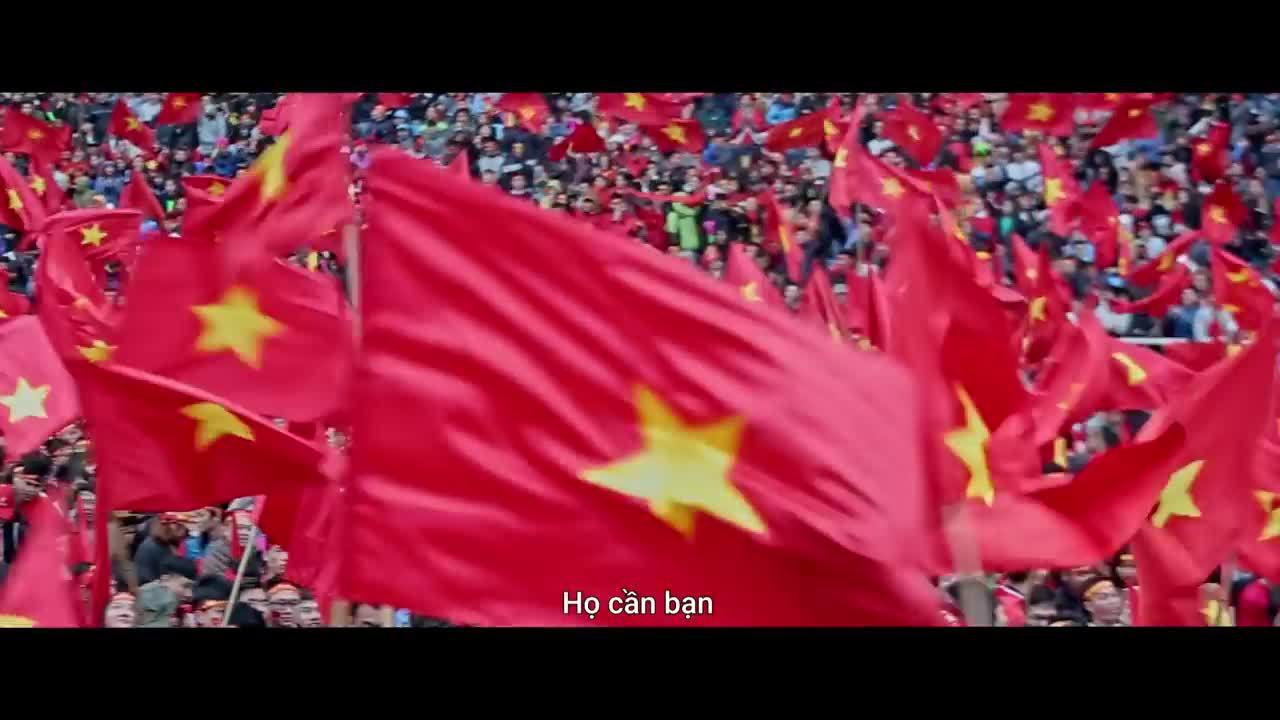 Quốc kỳ khổng lồ tiếp lửa cho tuyển Olympic Việt Nam tại Asiad