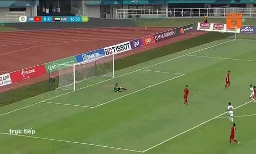 Tỷ số là 1-0 cho UAE