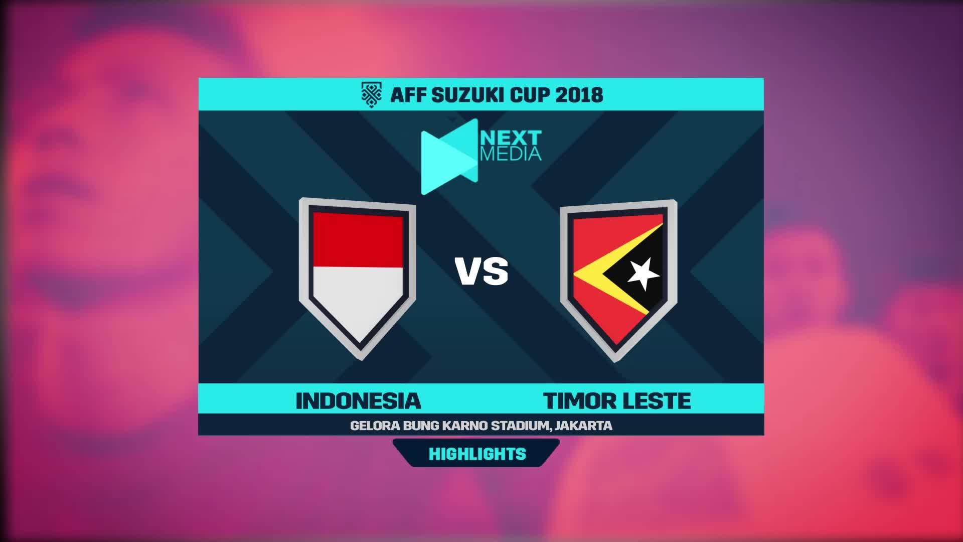 Indonesia 3-1 Timor-Leste