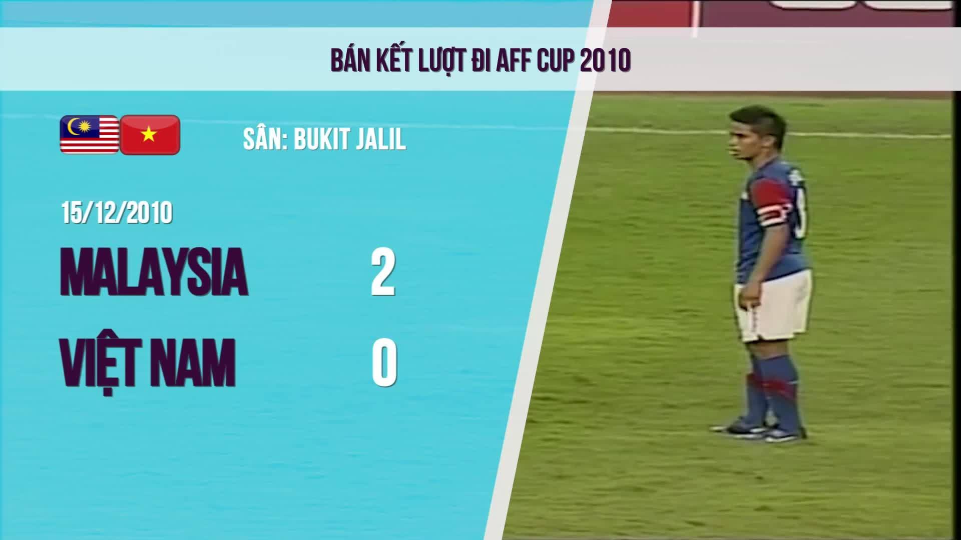 5 lần đối đầu gần nhất giữa Việt Nam và Malaysia tại AFF Cup