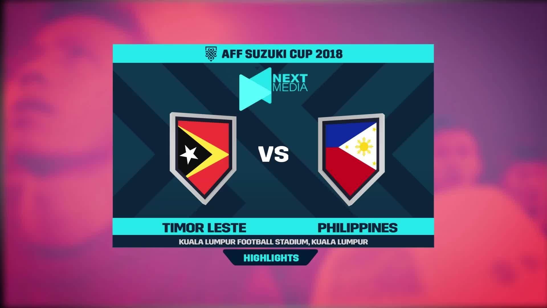 Timor Leste 2-3 Philippines
