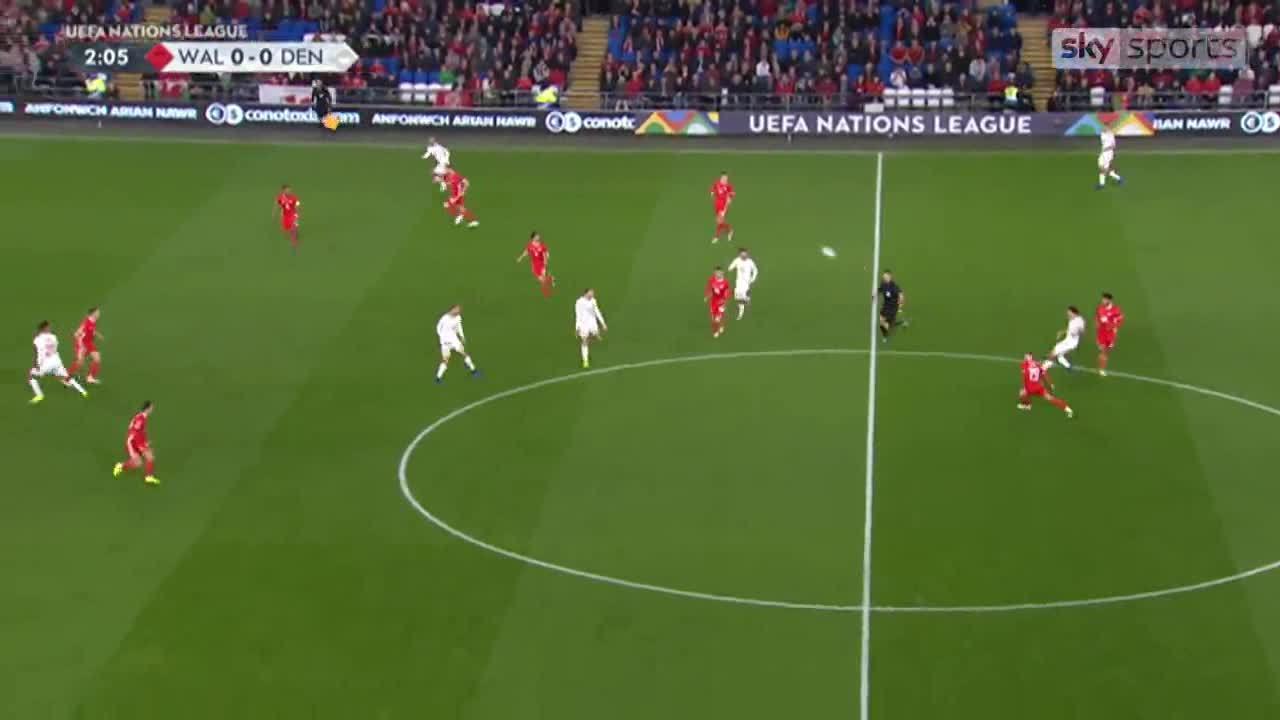 Wales 1-2 Đan Mạch