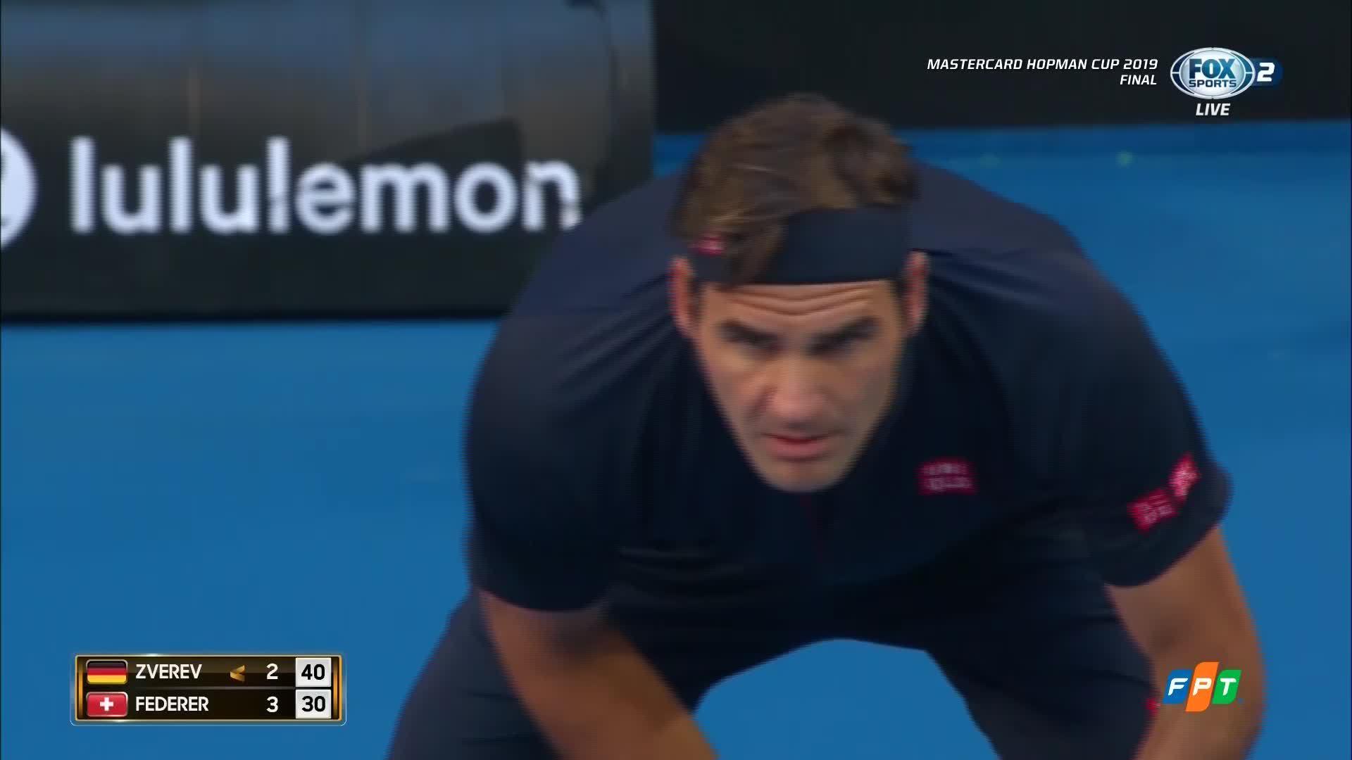 Alexander Zverev 0-2 Roger Federer
