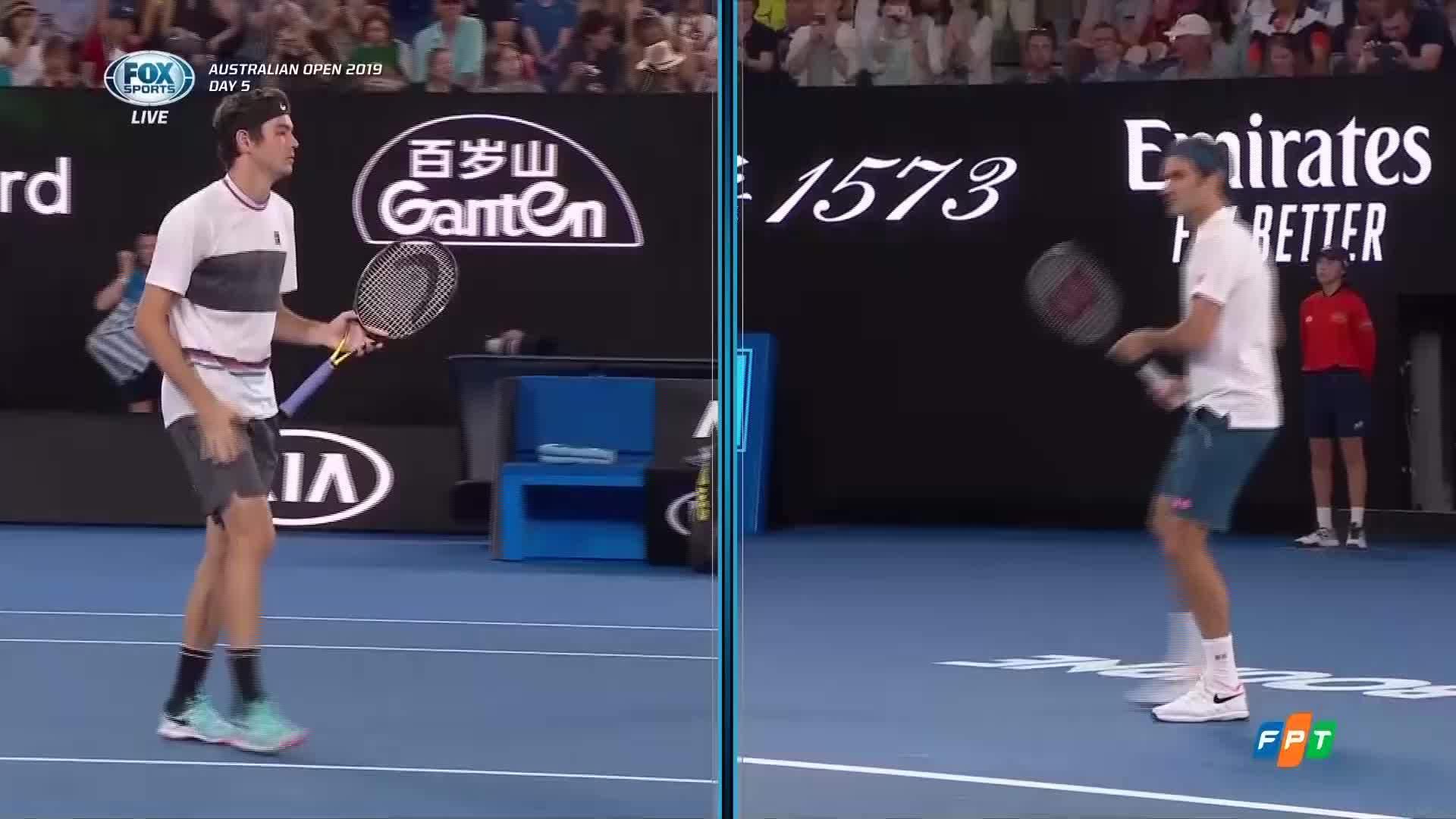 Taylor Fritz 0-3 Roger Federer