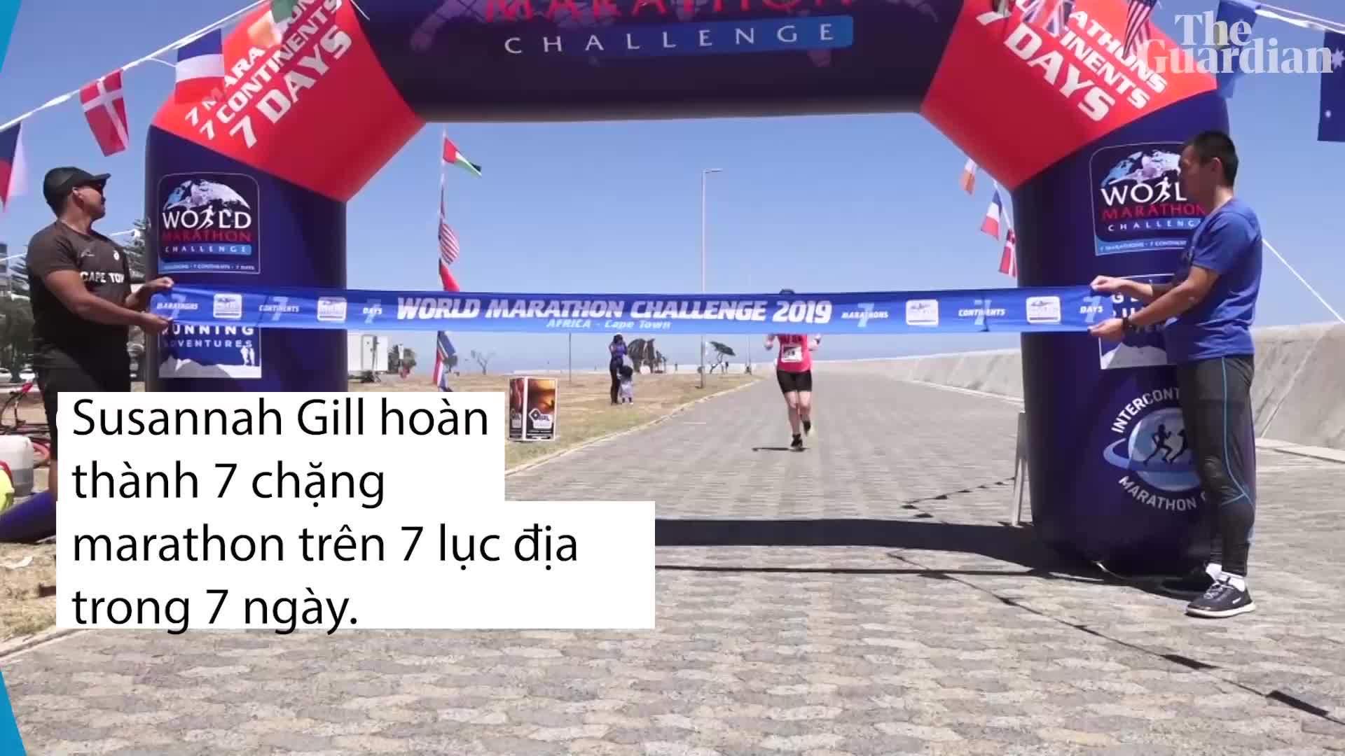 Nữ VĐV hoàn thành Thử thách Marathon Thế giới nhanh nhất