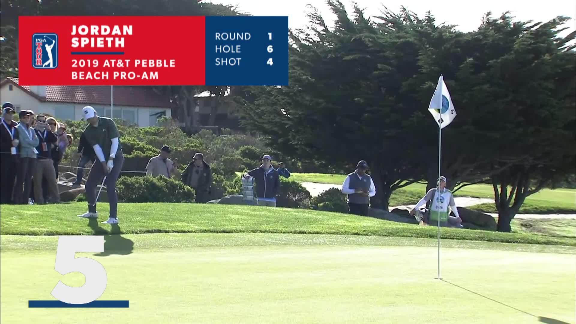 Top 5 cú đánh tốt ở giảiAT&T Pebble Beach 2019