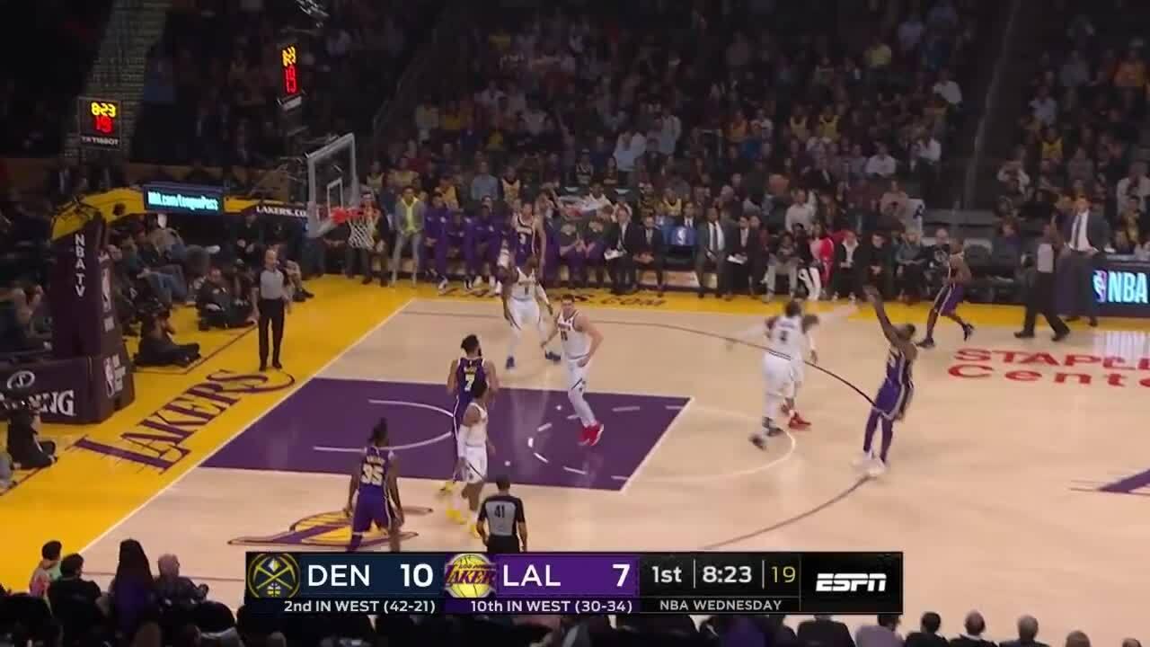 Diễn biến chính trận Lakers – Nuggets