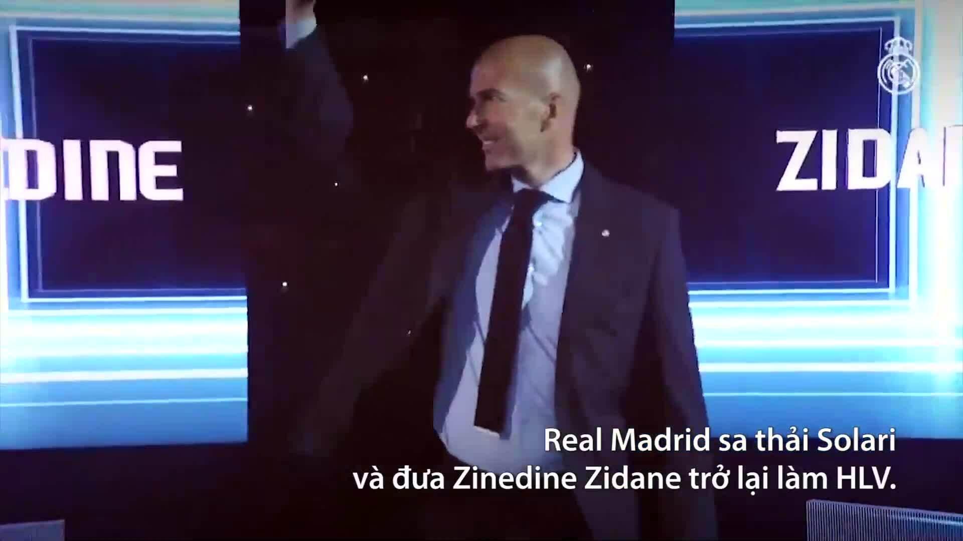 Zidane trở lại dẫn dắt Real