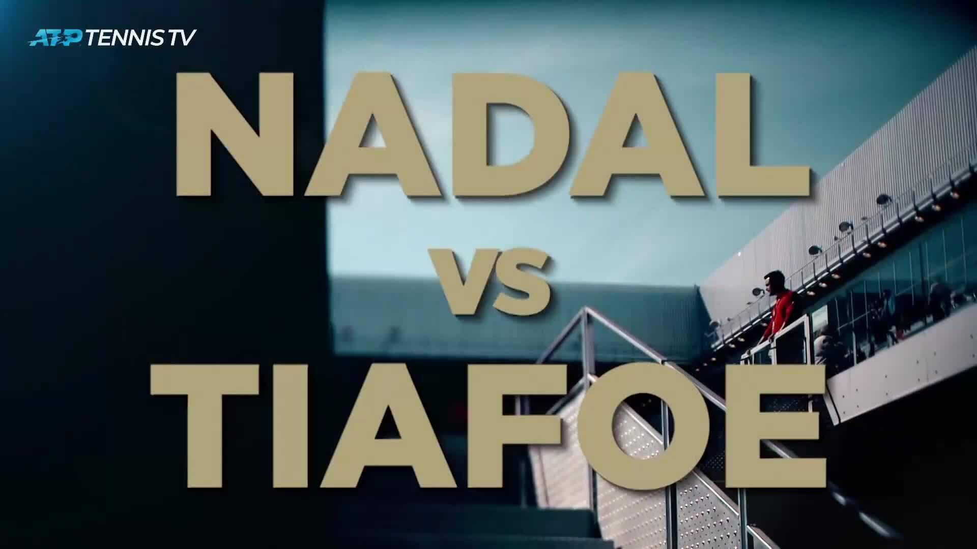 Frances Tiafoe 0-2 Rafael Nadal