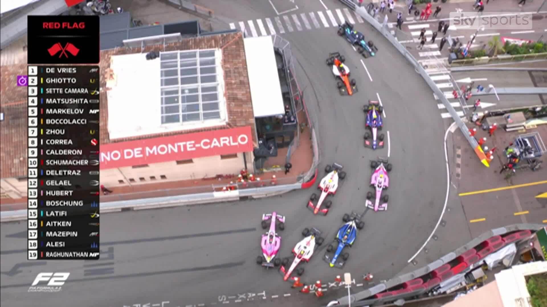 Mick Schumacher va chạm trên đường đua F2