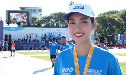 Hoa hậu Đỗ Mỹ Linh tham gia VnExpress Marathon vì mục đích nhân văn