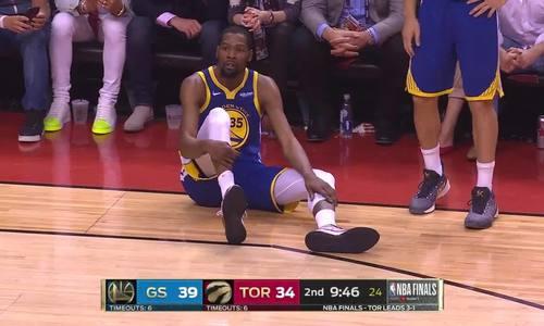Kevin Durant dính chấn thương ở game 5 chung kết NBA