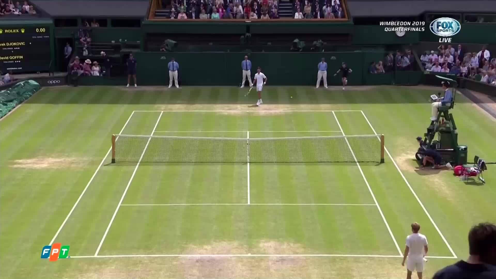Novak Djokovic 3-0 David Goffin