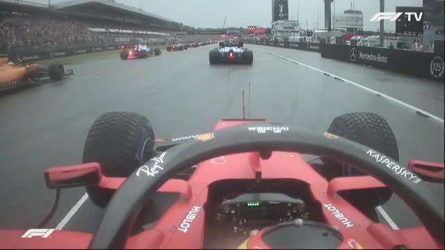 Vettel vượt sáu bậc ở Lap 1 GP Đức 2019
