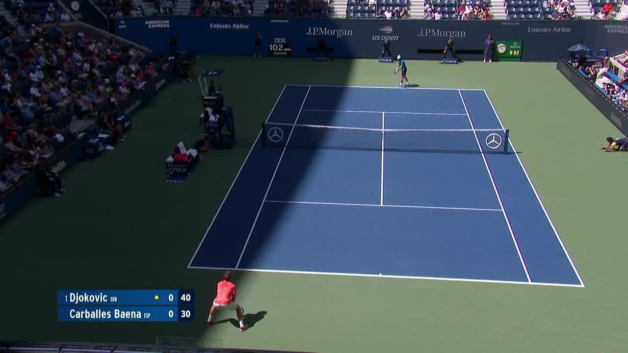 Novak Djokovic 3-0 Carballes Baena