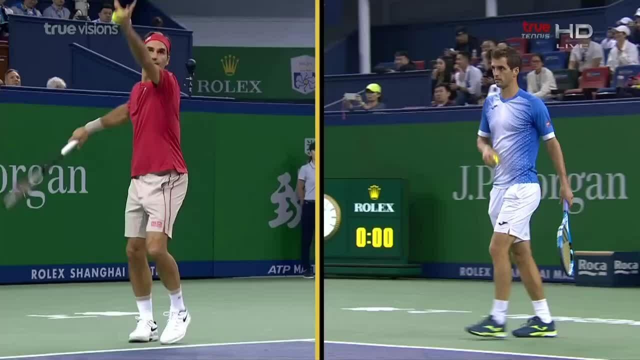 Albert Ramos-Vinolas 0-2 Roger Federer