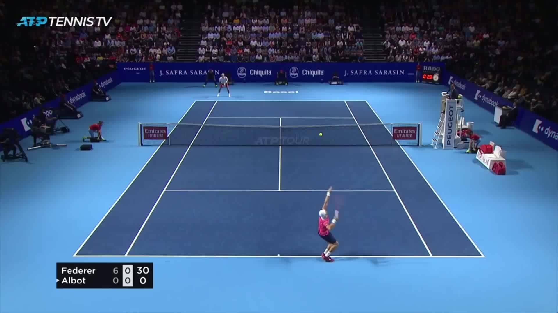 Roger Federer 2-0 Radu Albot